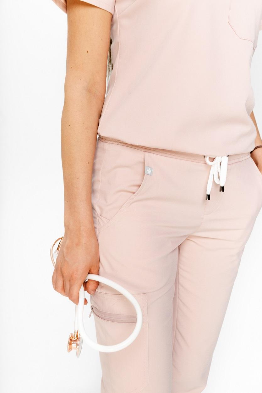 spodnie medyczne różowe