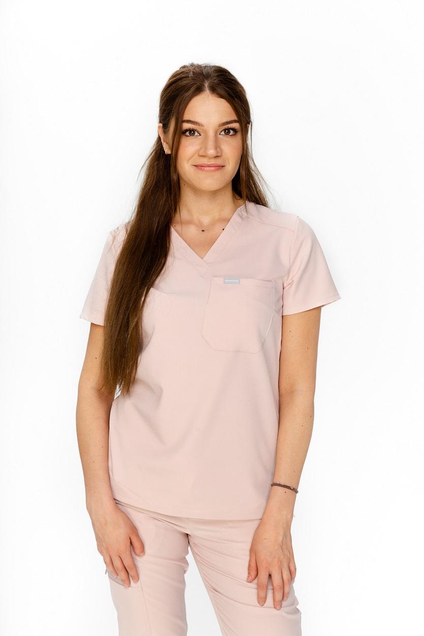 pudrowa bluza medyczna