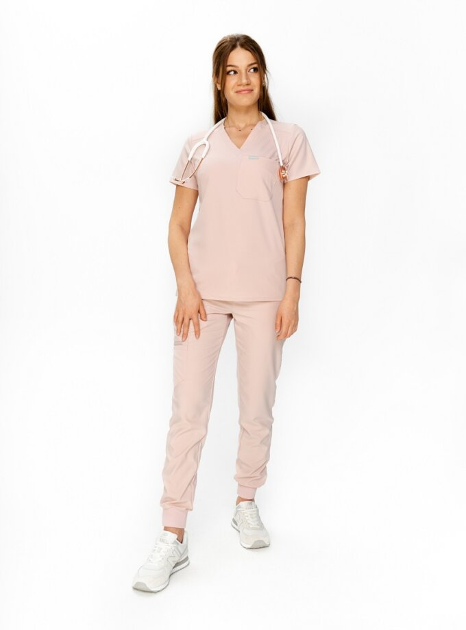 Light pink medical blouse