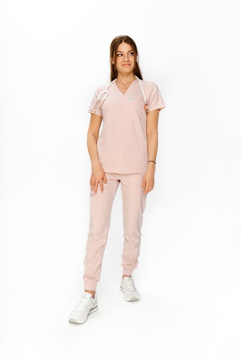 Jasno różowa bluza medyczna