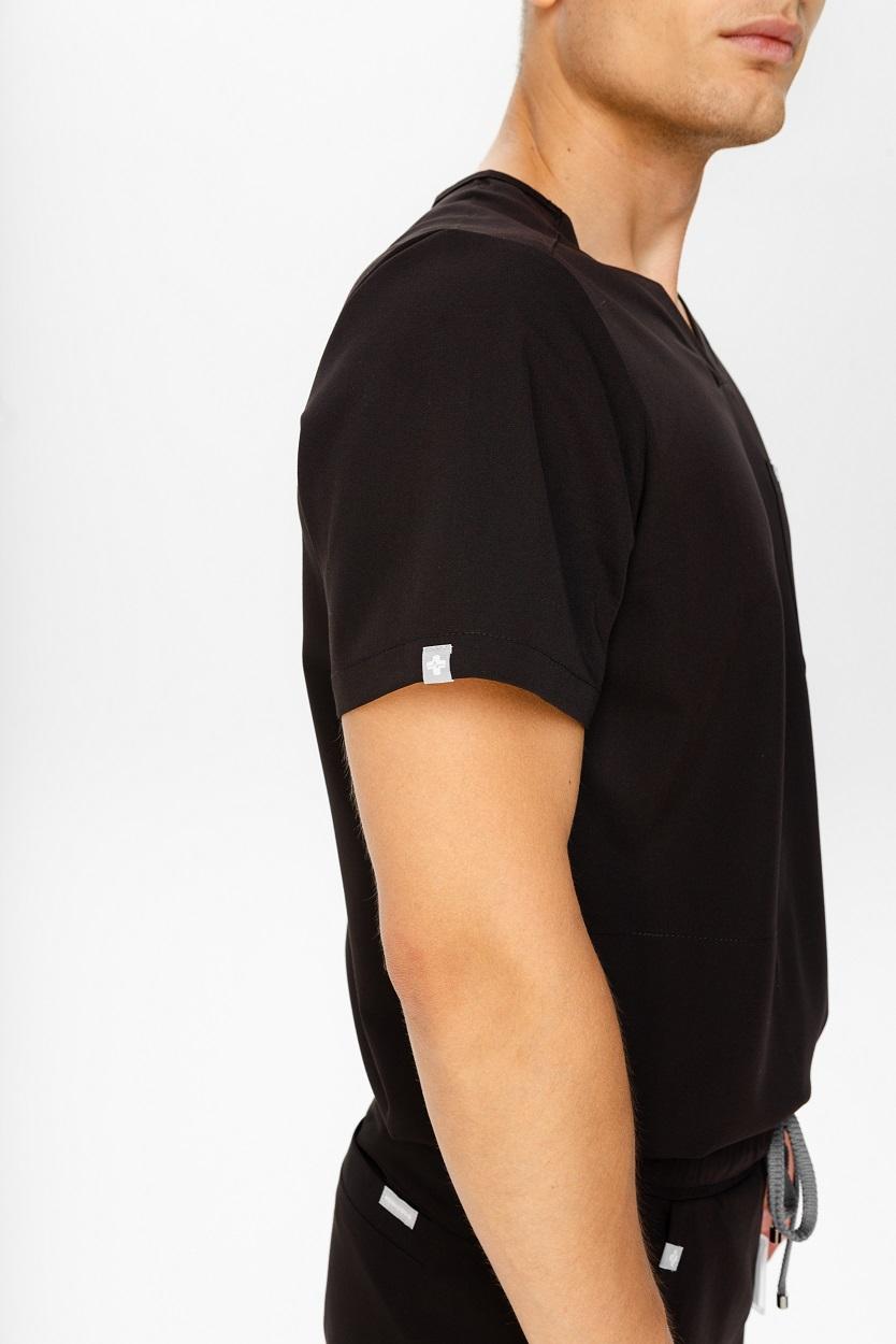Bluza medyczna męska czarna
