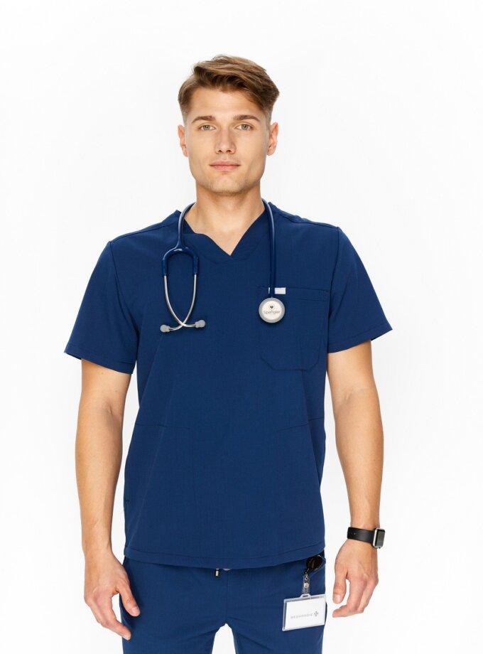 Granatowa bluza medyczna męska
