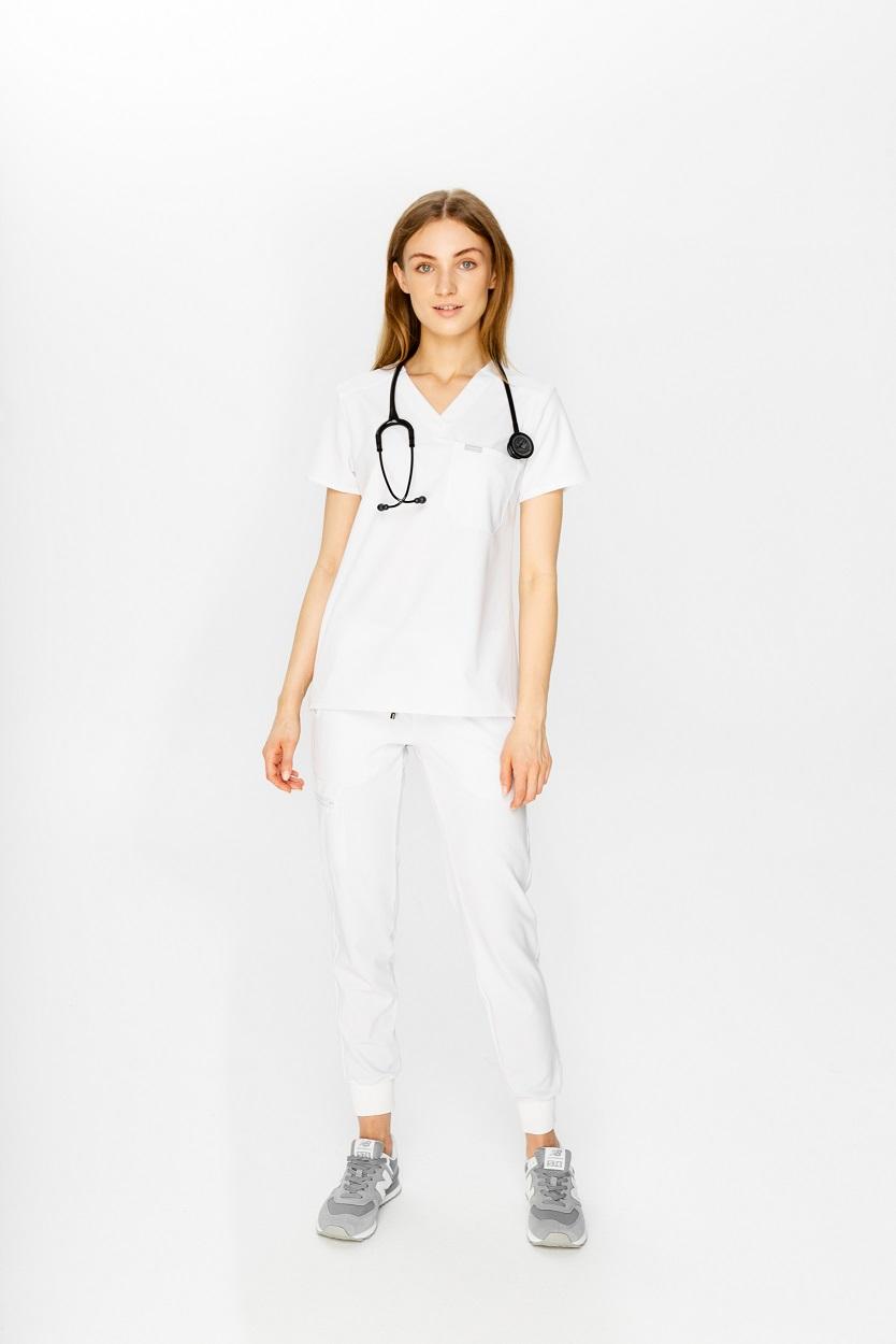 komplet medyczny biały