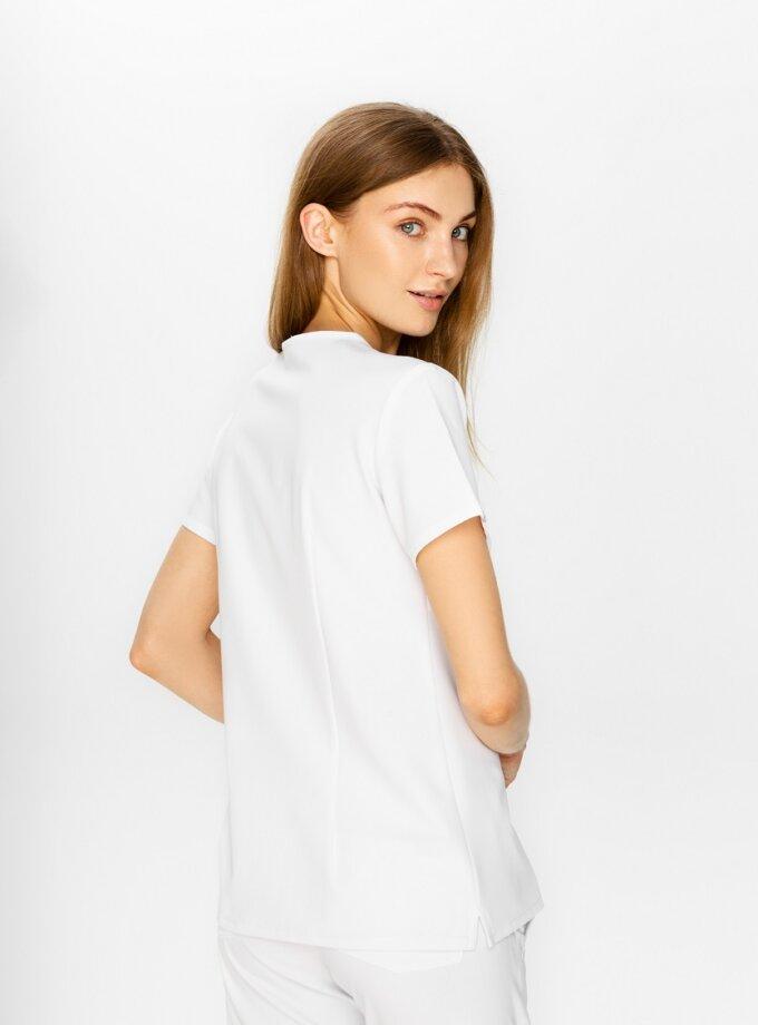 white scrubs top