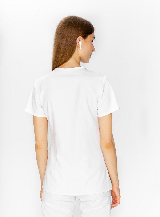 white medical apron