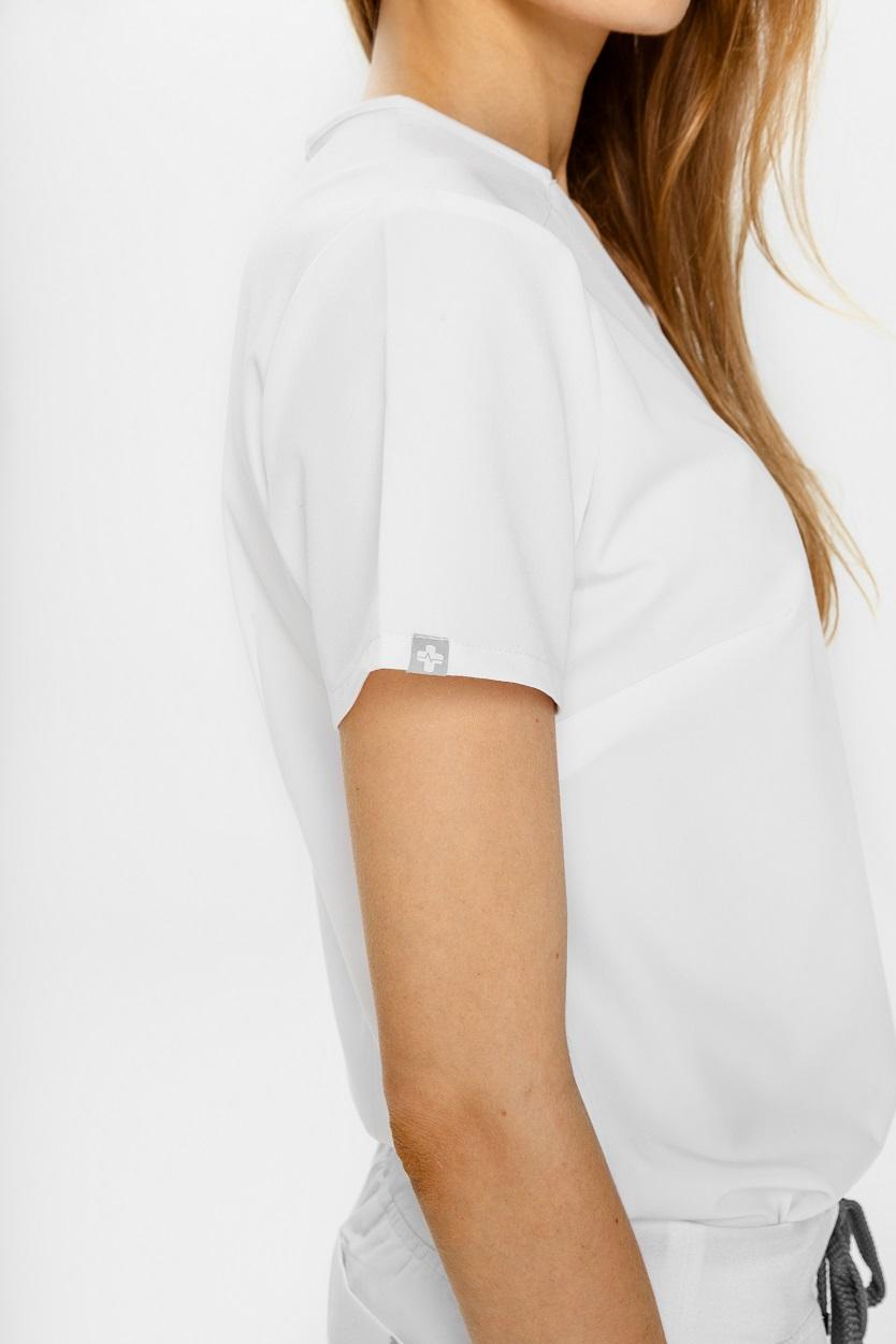 women's scrubs top white