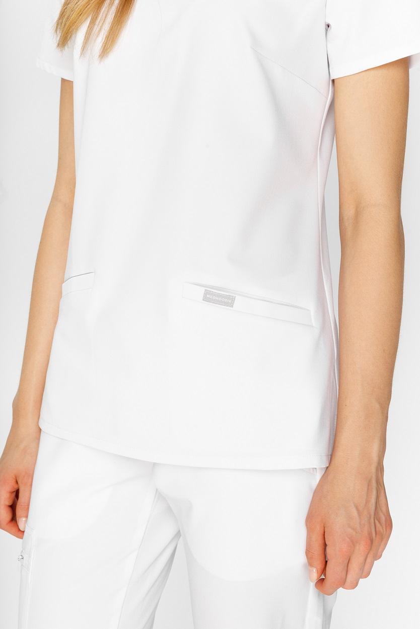 woman's white scrubs top