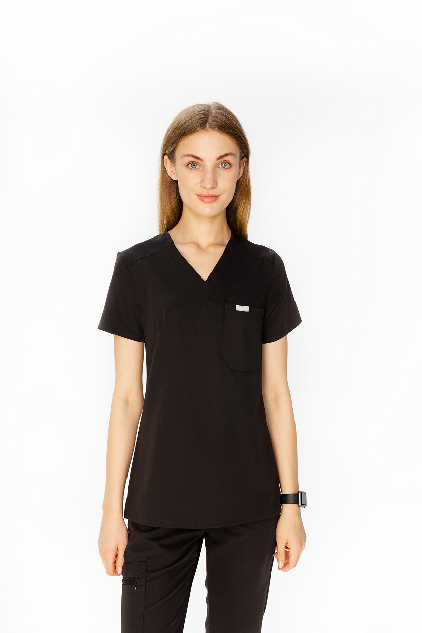 czarna bluza medyczna damska