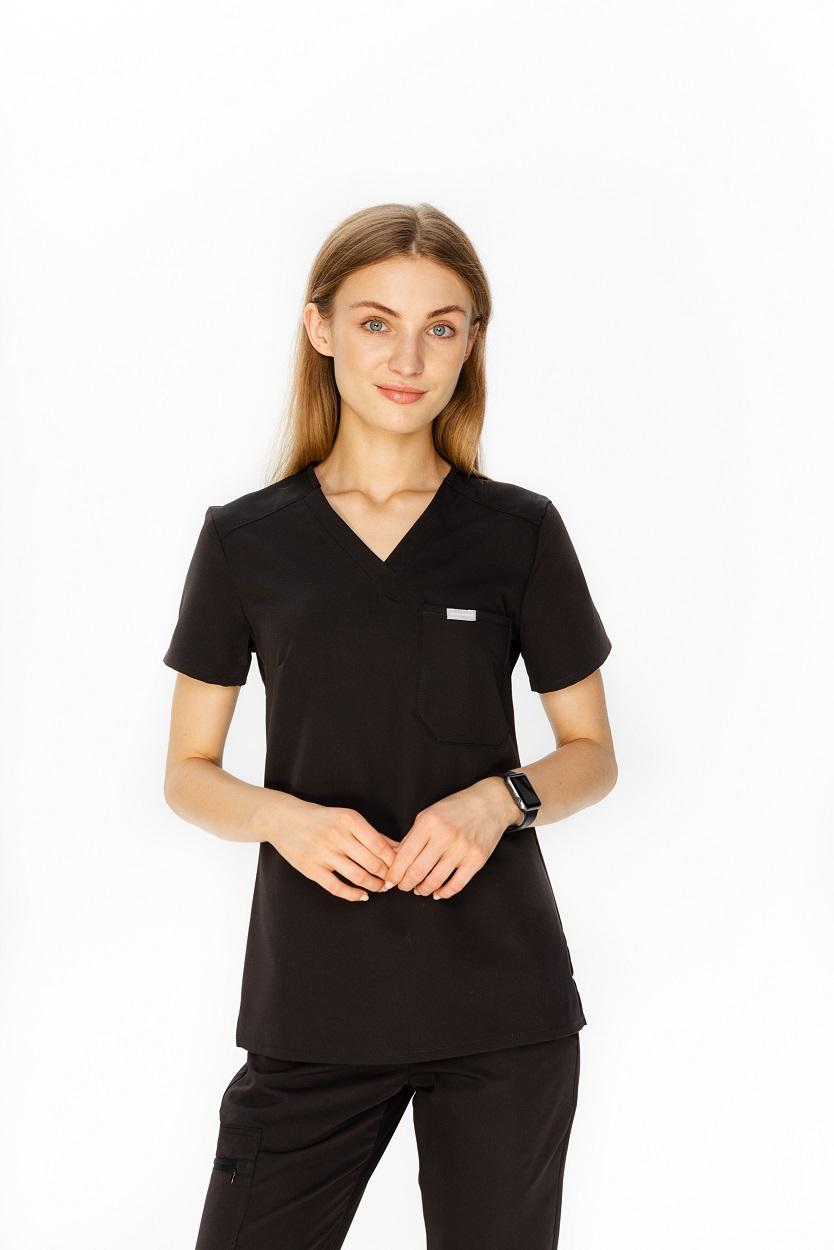 bluza medyczna czarna damska